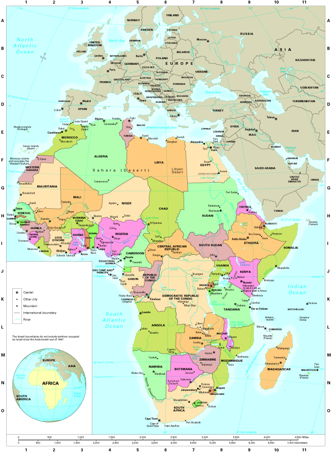 today africa is divided into 54 independent countries several european countries still control a few small islands the madeira islands controlled by
