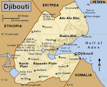 Djibouti At World Book - Djibouti map