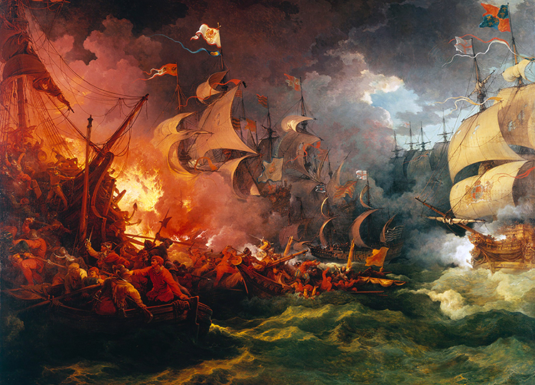 The End Of The Spanish Armada World Book