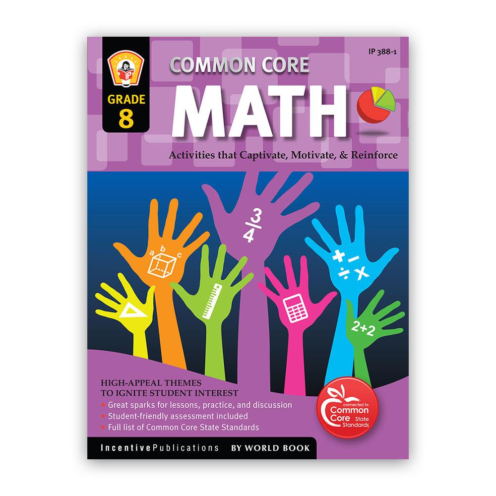 Common Core Math Workbook for Grade 8 | World Book