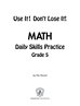 Daily math practice 5th grade page