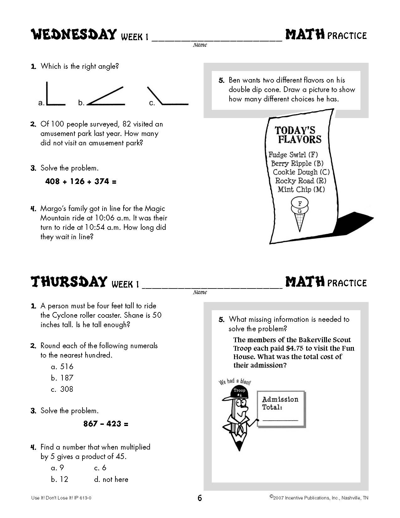Worksheet 5th Grade Math Practice daily math practice 5th grade use it dont lose world book it