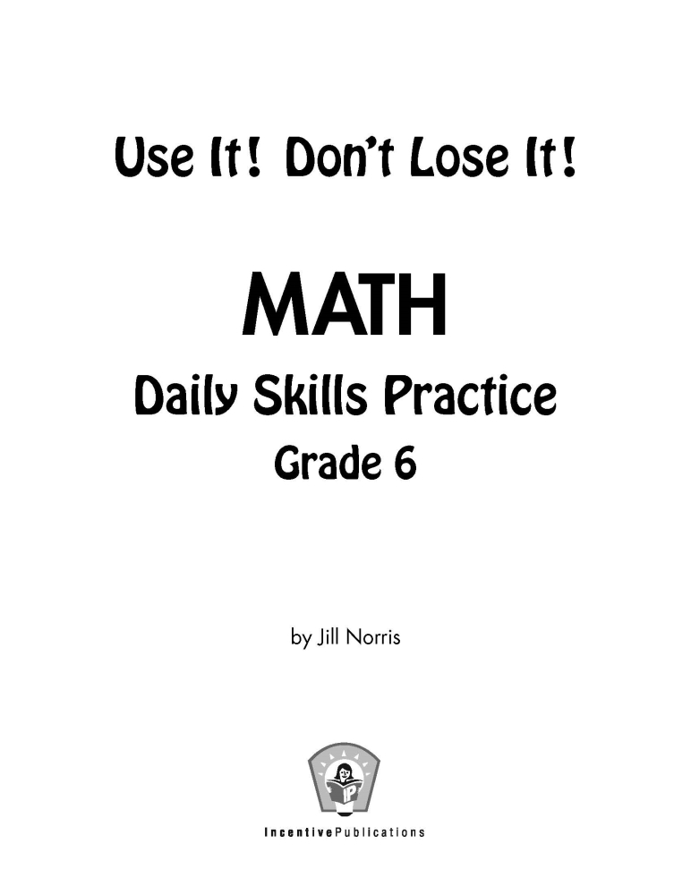 Free Math Quizzes For 5th Grade Worksheets Organized by Grade – 6 Grade Math Worksheet