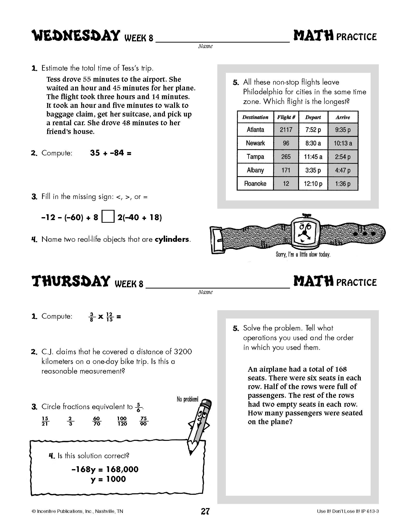 Daily Math Practice Grade 8: Use It! Don't Lose It! | World Book