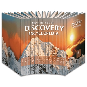 Discovery Encyclopedia book spines