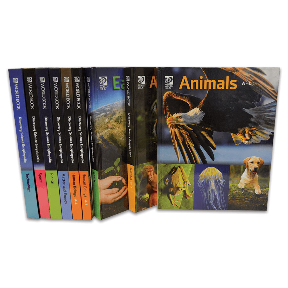 Discovery Science Encyclopedia spines