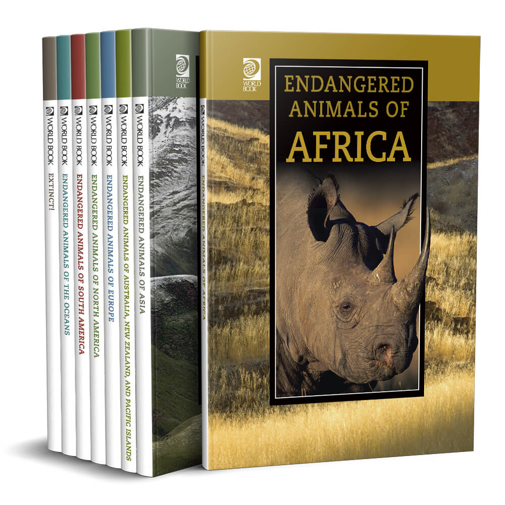 Endangered Animals of the World set