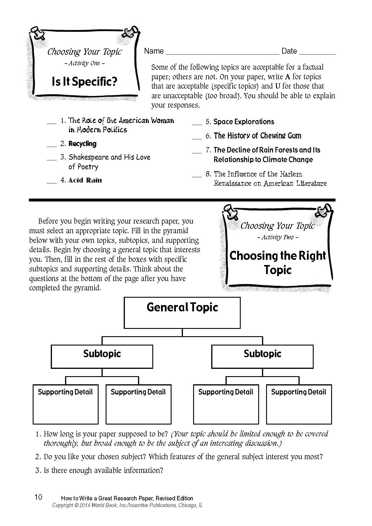 How To Write A Great Research Paper  World Book How To Write A Great Research Paper Page  Purchase Literature Review also Business Essay Example  Essay Science