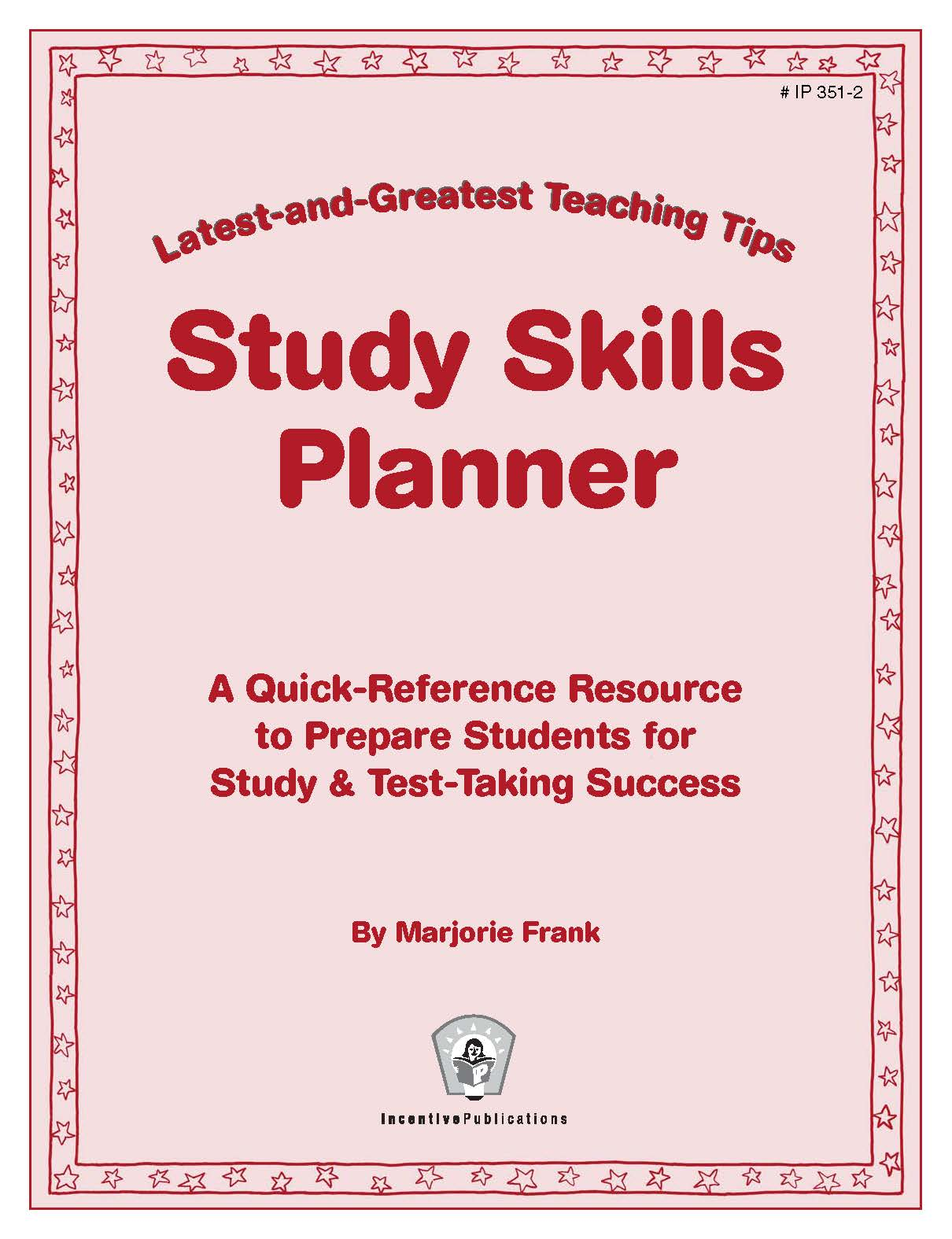 Study Skills Planner Latest and Greatest Teaching Tips cover