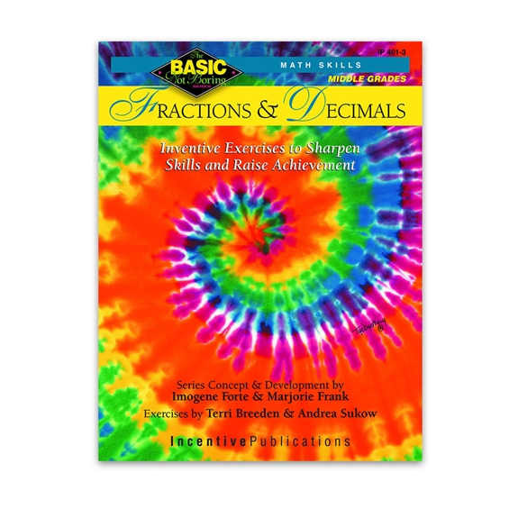 Basic Not Boring Middle Grades Fractions and Decimals cover