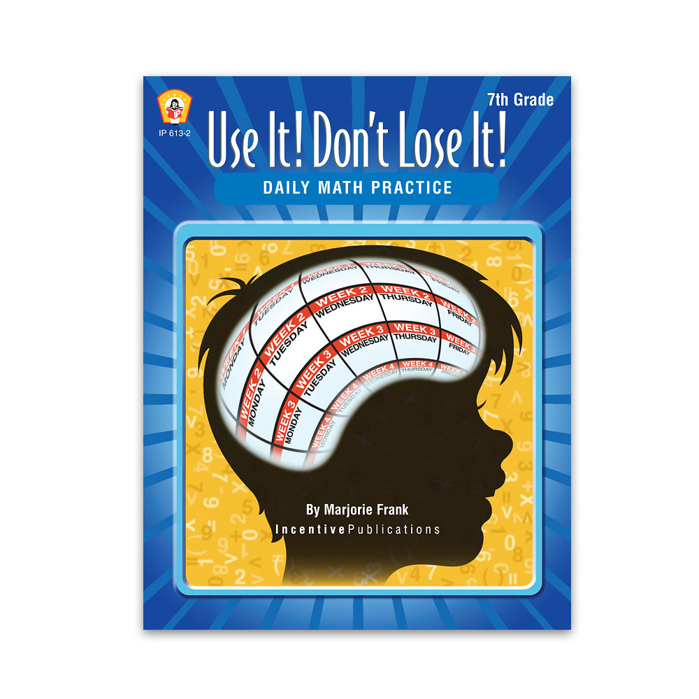 Use It Don't Lose It Math 7th Grade cover